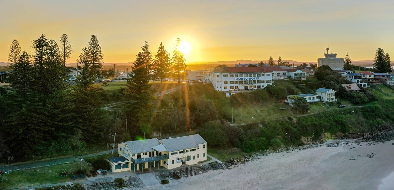 motel-accommodation-yamba-aerial-building | Pegasus Motel